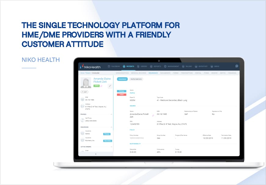 The single technology platform for HME/DME providers with a friendly customer attitude